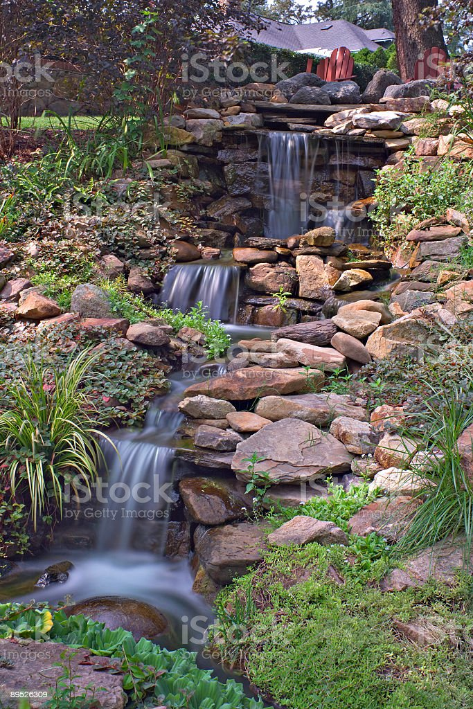 Garden Waterfall long exposure royalty-free stock photo