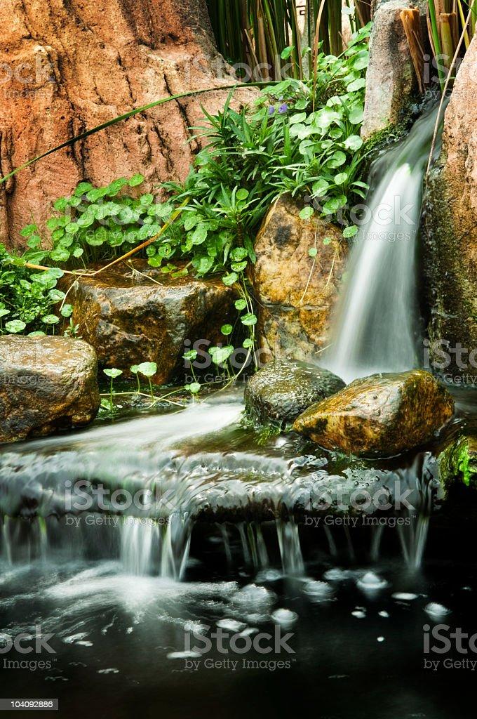 Garden waterfalls royalty-free stock photo