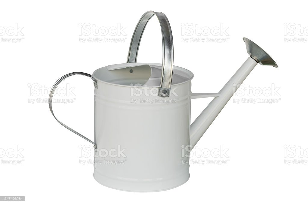 garden watering can isolated on white background stock photo