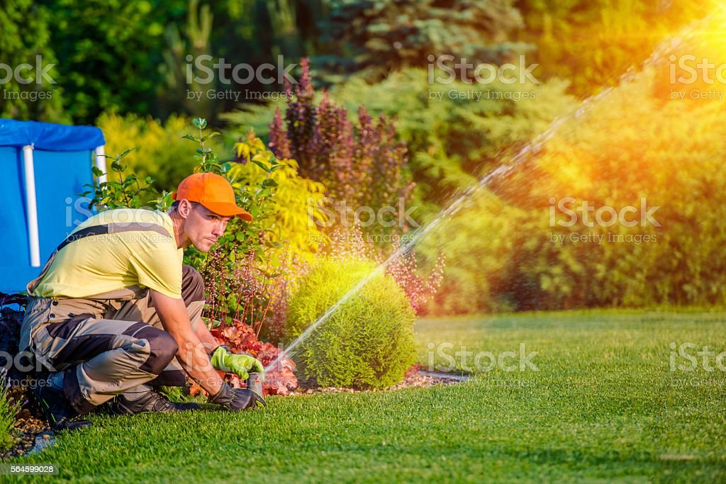Garden Watering Systems stock photo