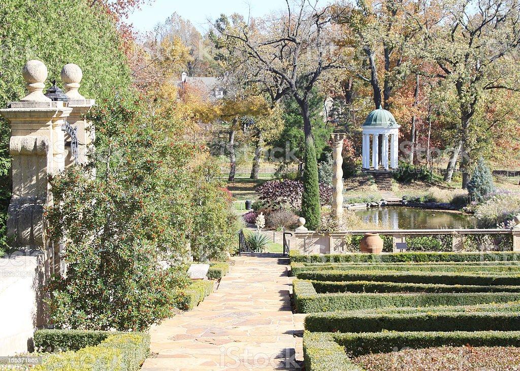 Garden with Gazebo royalty-free stock photo