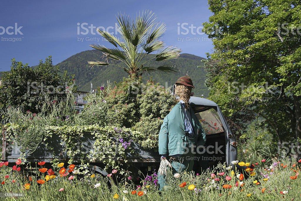 Garden worker royalty-free stock photo