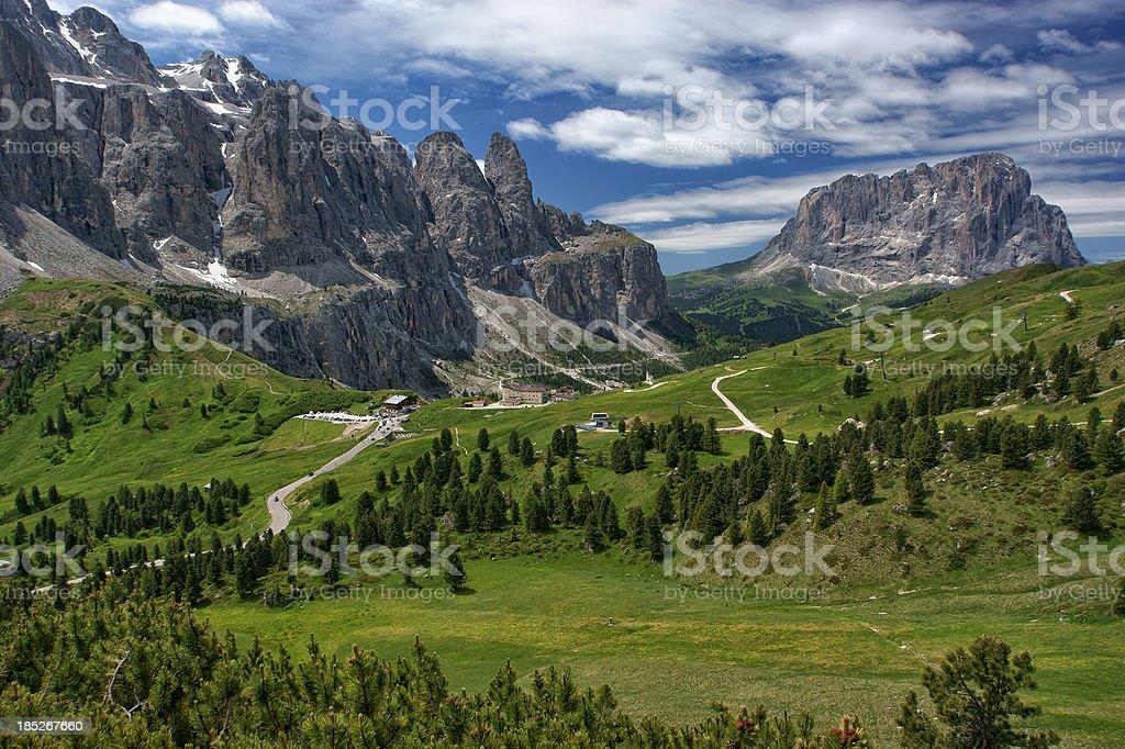 Gardena Pass stock photo