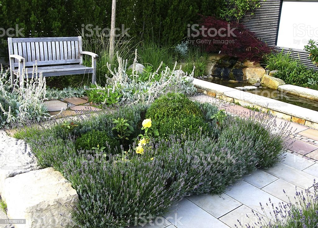 Gardendesign stock photo
