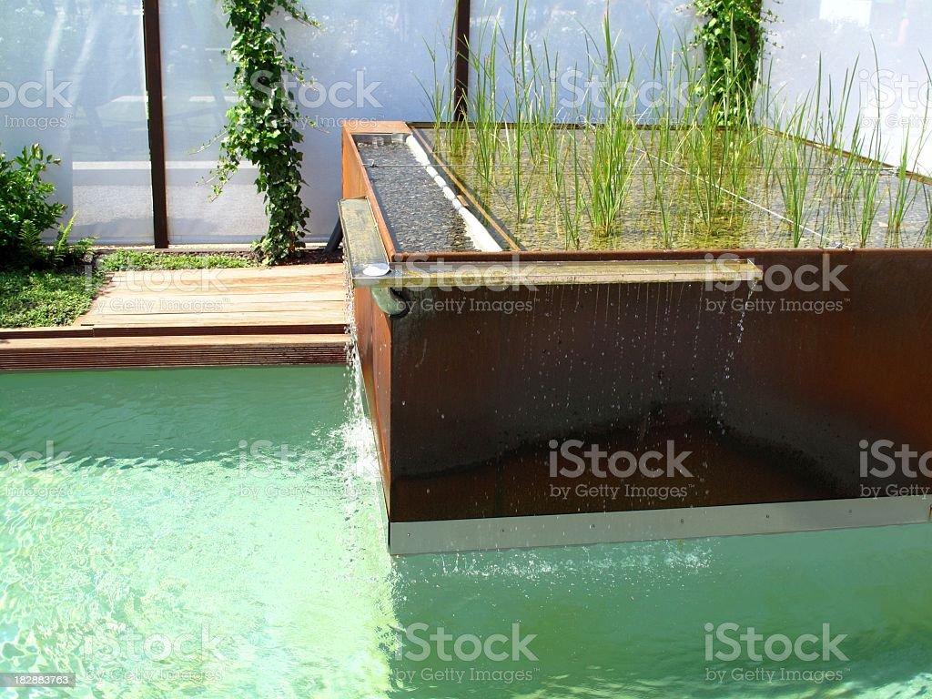 Gardendesign stock photo