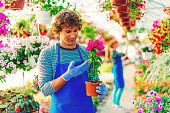 Gardeners developing their business with flowers