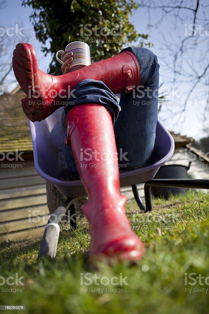 Gardeners' Tea Break royalty-free stock photo