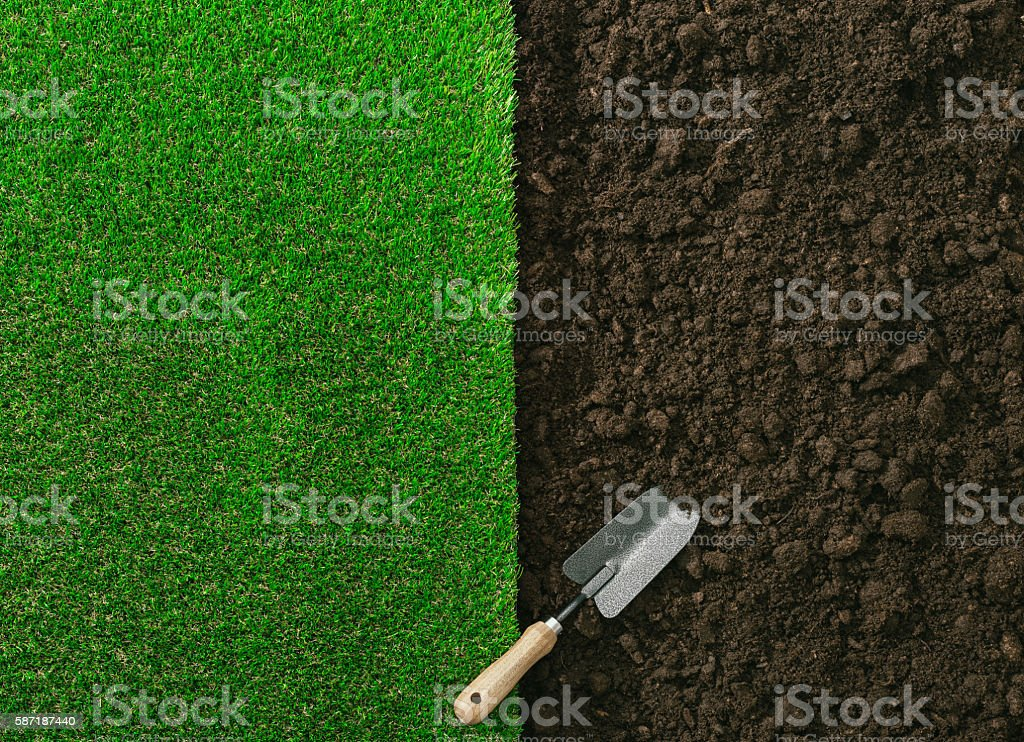 Gardening and landscaping stock photo