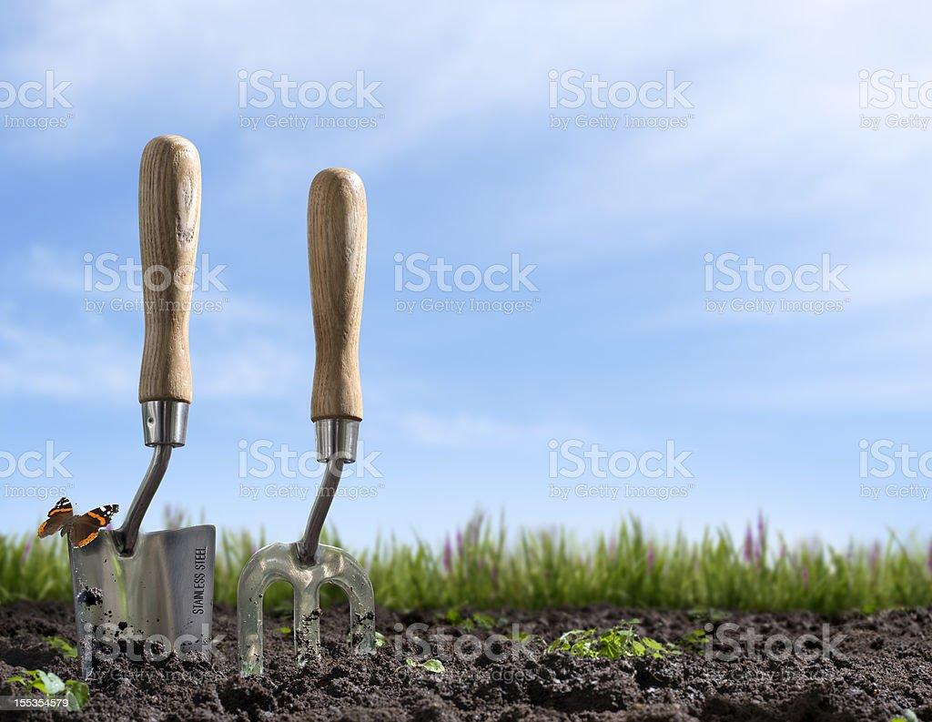 Gardening at springtime royalty-free stock photo