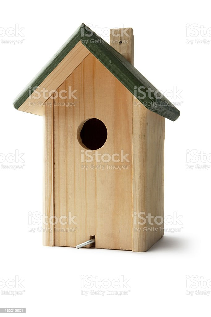 Gardening: Bird House stock photo