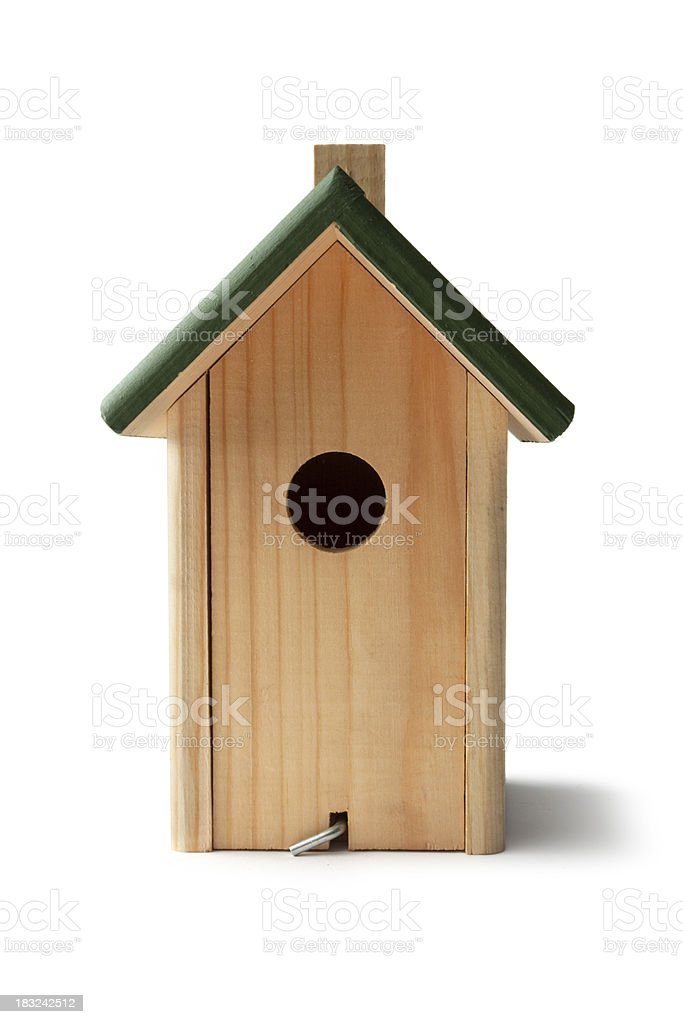 Gardening: Bird House royalty-free stock photo