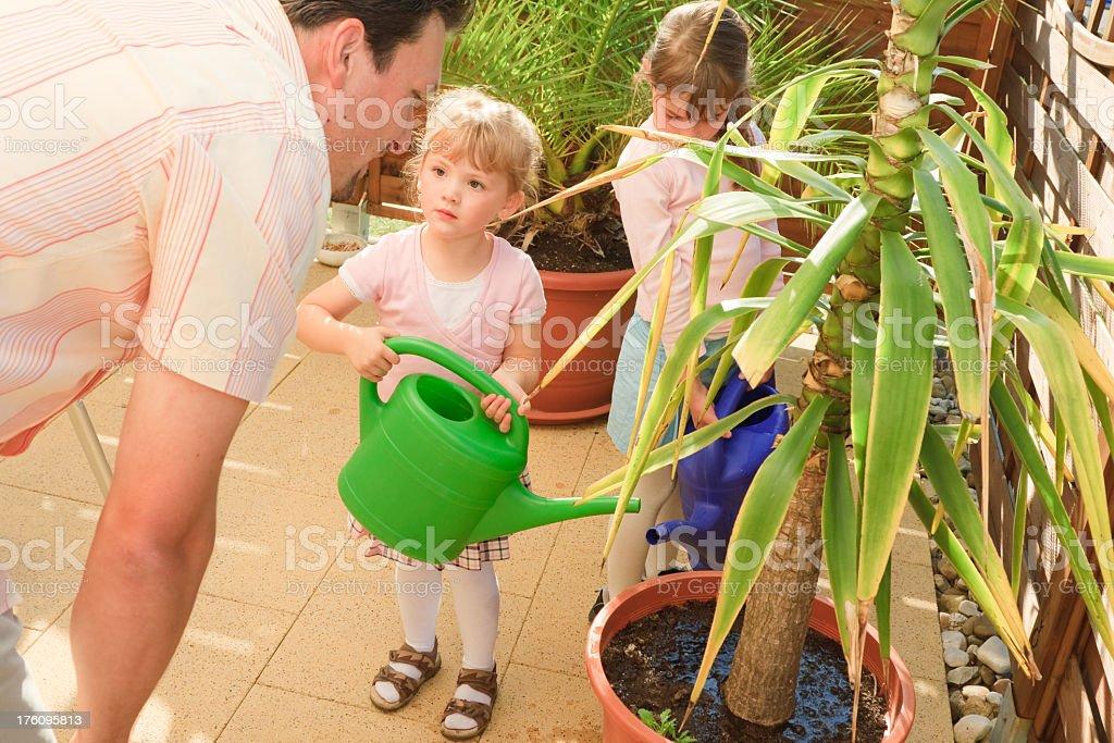 gardening family royalty-free stock photo