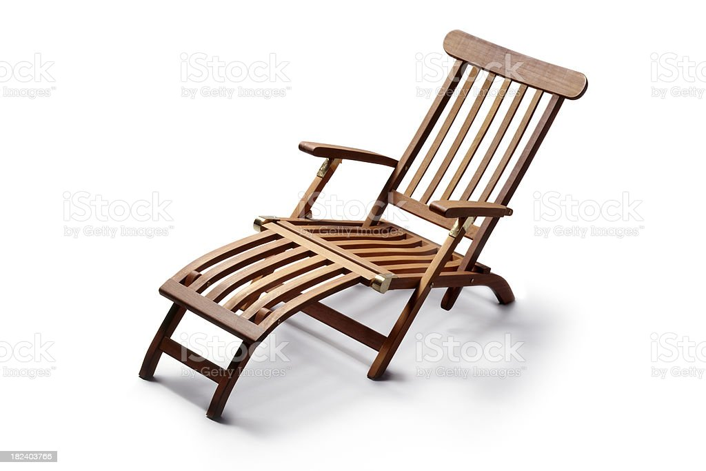 Gardening: Lounge Chair stock photo