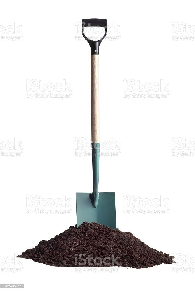 Gardening: Soil and Spade royalty-free stock photo