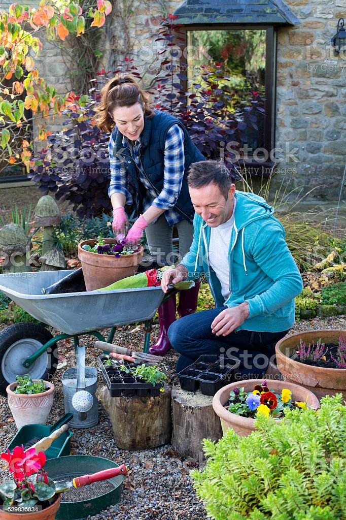 Gardening Team stock photo