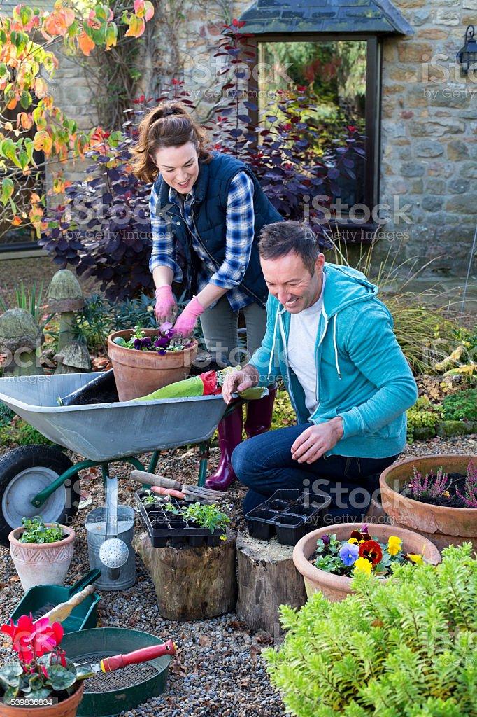 Gardening Team stock photo