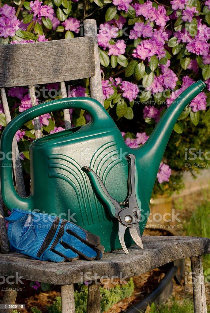 Ferramentas de jardinagem foto royalty-free
