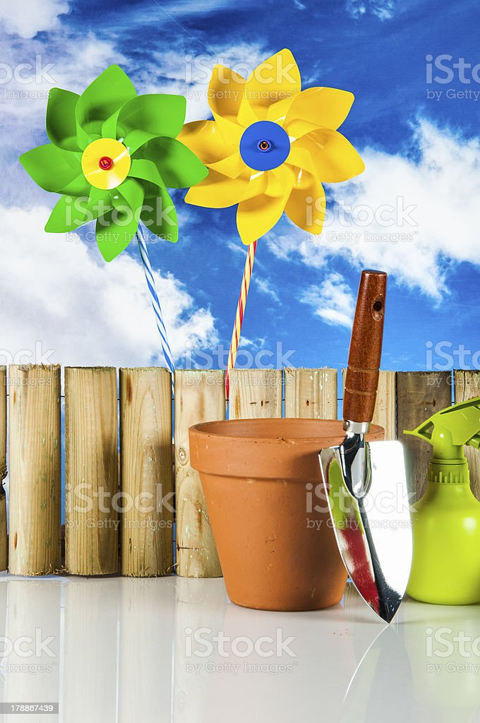 Gardening with rural stuff royalty-free stock photo