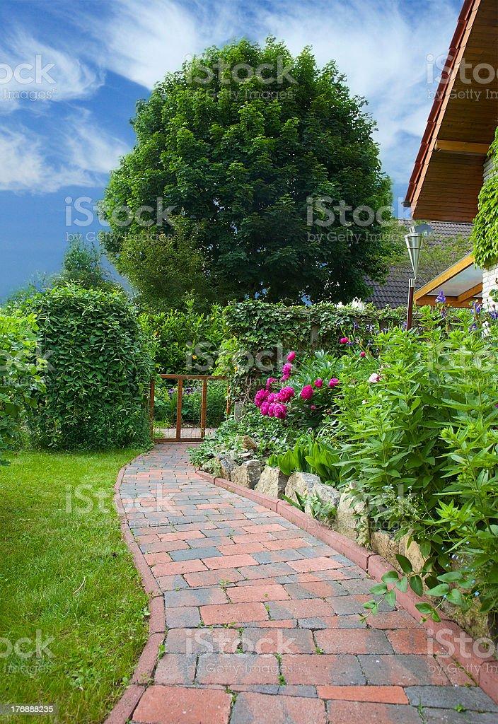 garden-path stock photo