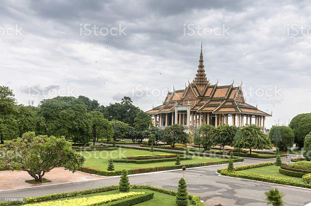 Gardens At The Royal Palace In Phnom Penh, Cambodia stock photo