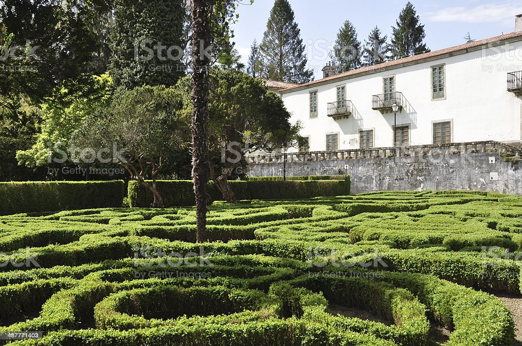 Gardens in Mari??n Palace stock photo