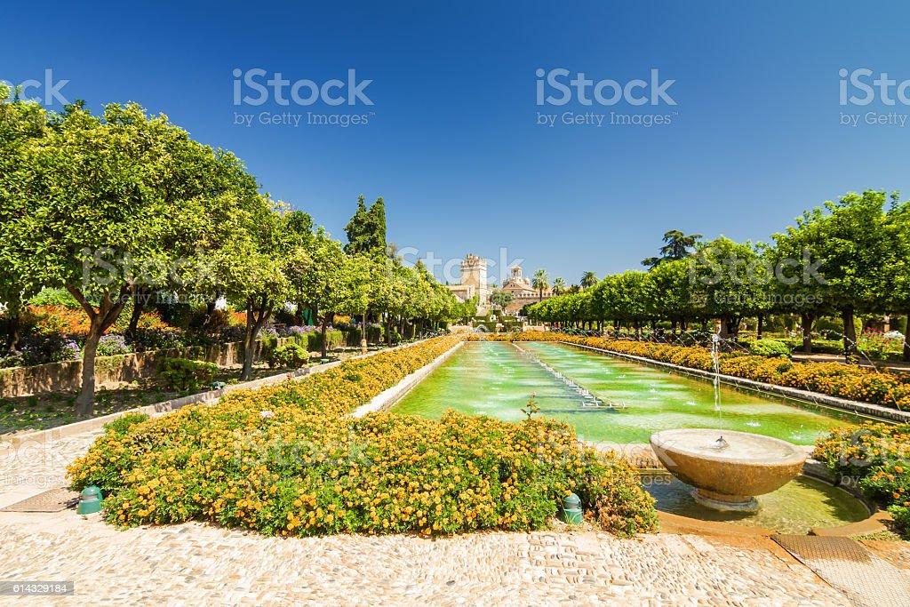 Gardens of Alcazar, Cordoba, Andalusia province, Spain stock photo