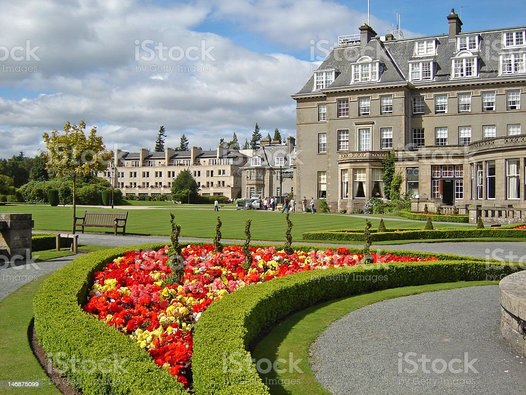Gardens of Gleneagles Golf and Spa Hotel royalty-free stock photo