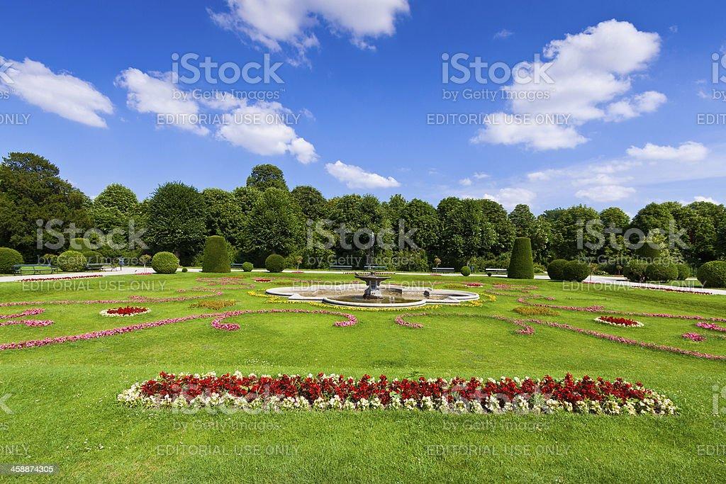 Gardens of Schonbrunn Palace, Vienna. royalty-free stock photo