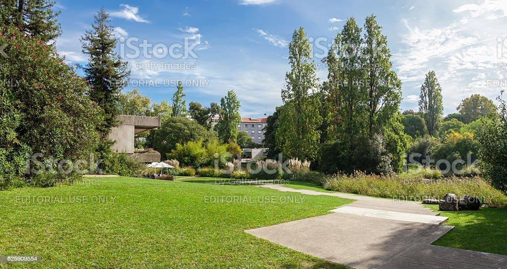 Gardens of the Calouste Gulbenkian foundation. stock photo