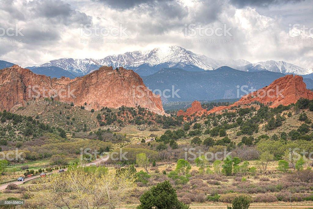 Gardens of the Gods, Colorado Springs, USA stock photo