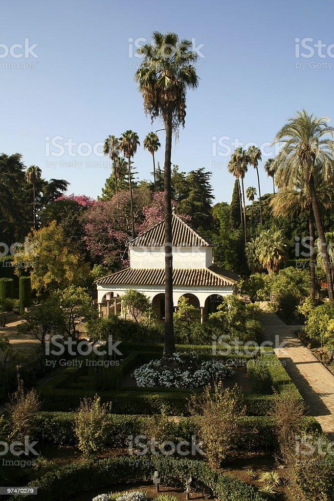 Gardens of the Royal Alcazar, Seville. royalty-free stock photo