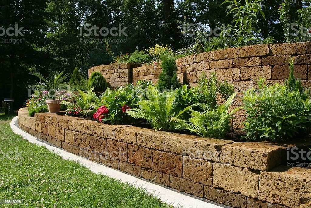 Gardenwall stock photo