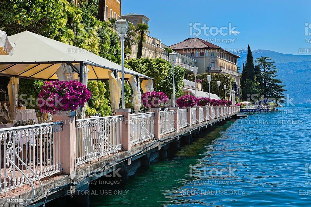 Gardone Riviera Lakeside, Lake Italy royalty-free stock photo