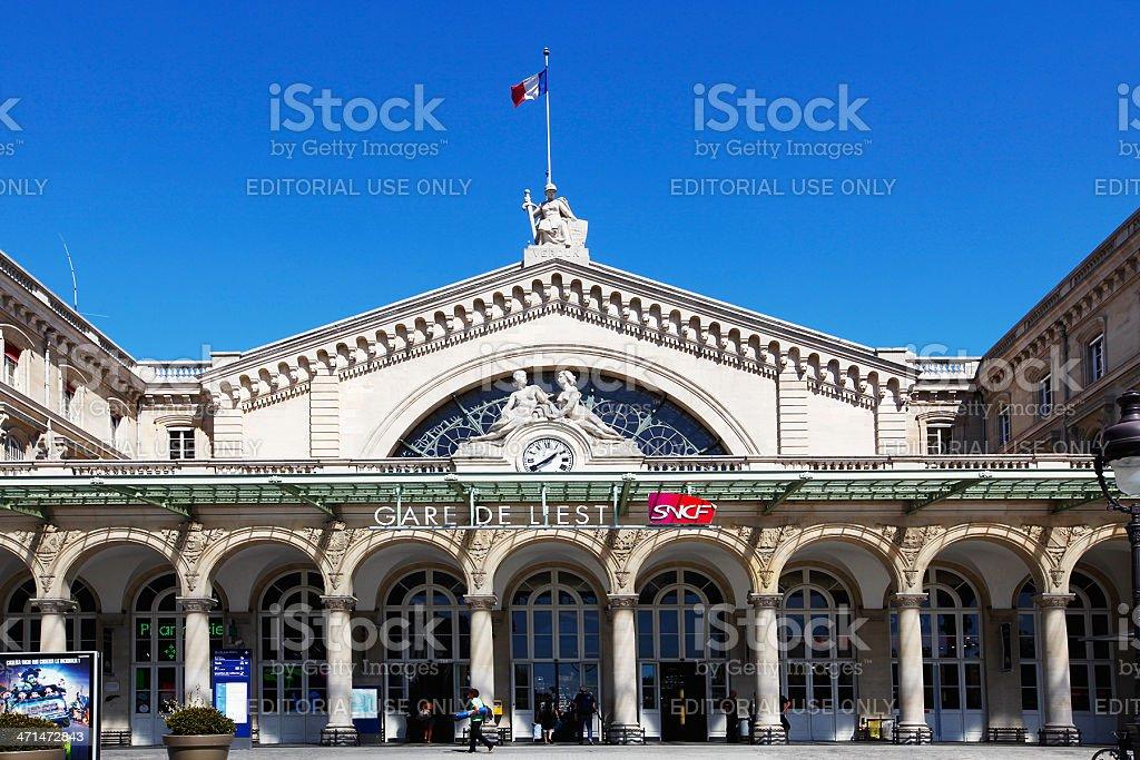 Gare de l`Est royalty-free stock photo