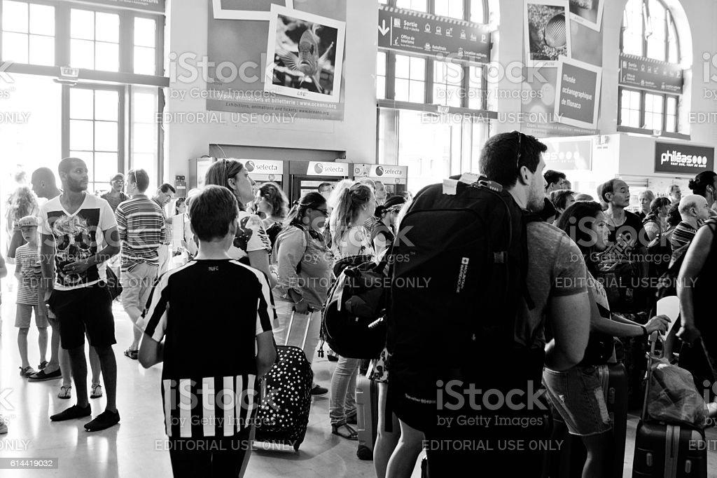 Gare de Nice Ville rail station stock photo