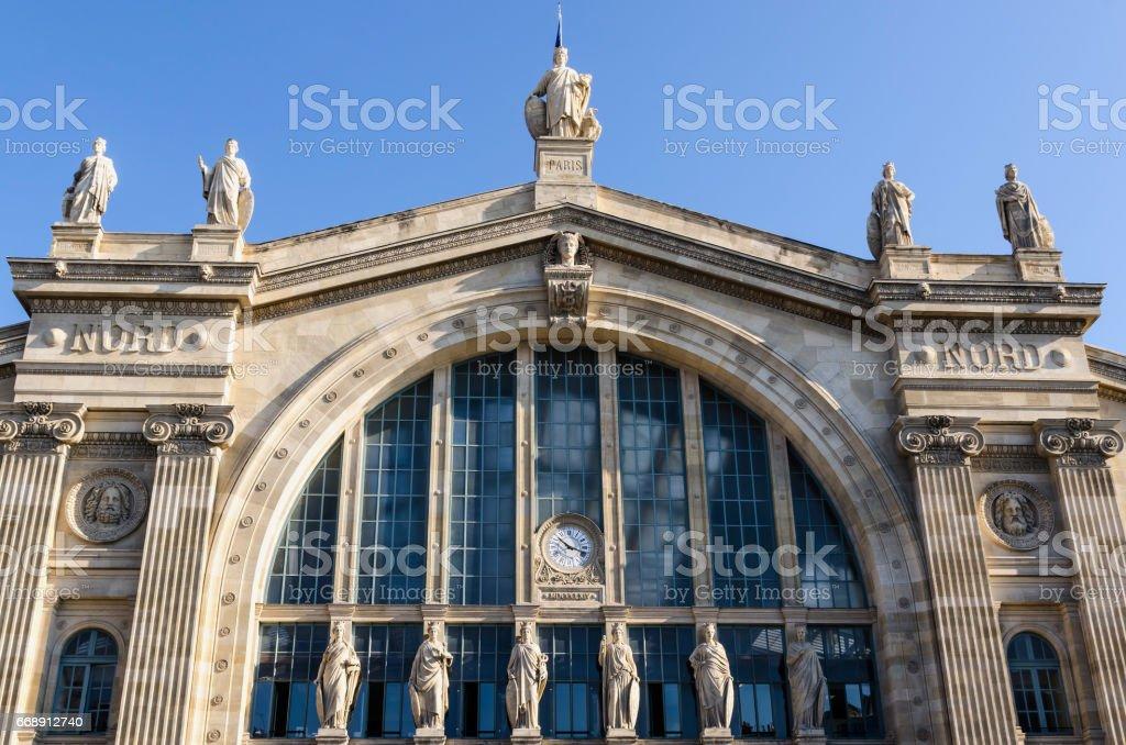Gare du Nord facade stock photo