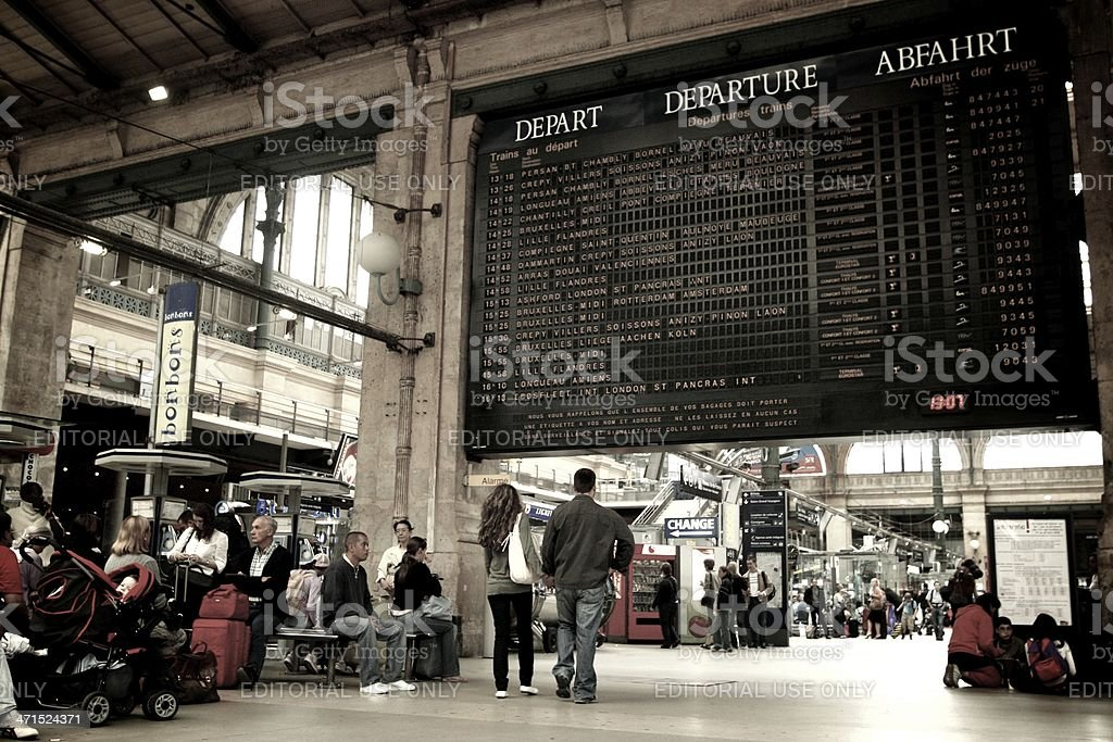 Gare du Nord royalty-free stock photo