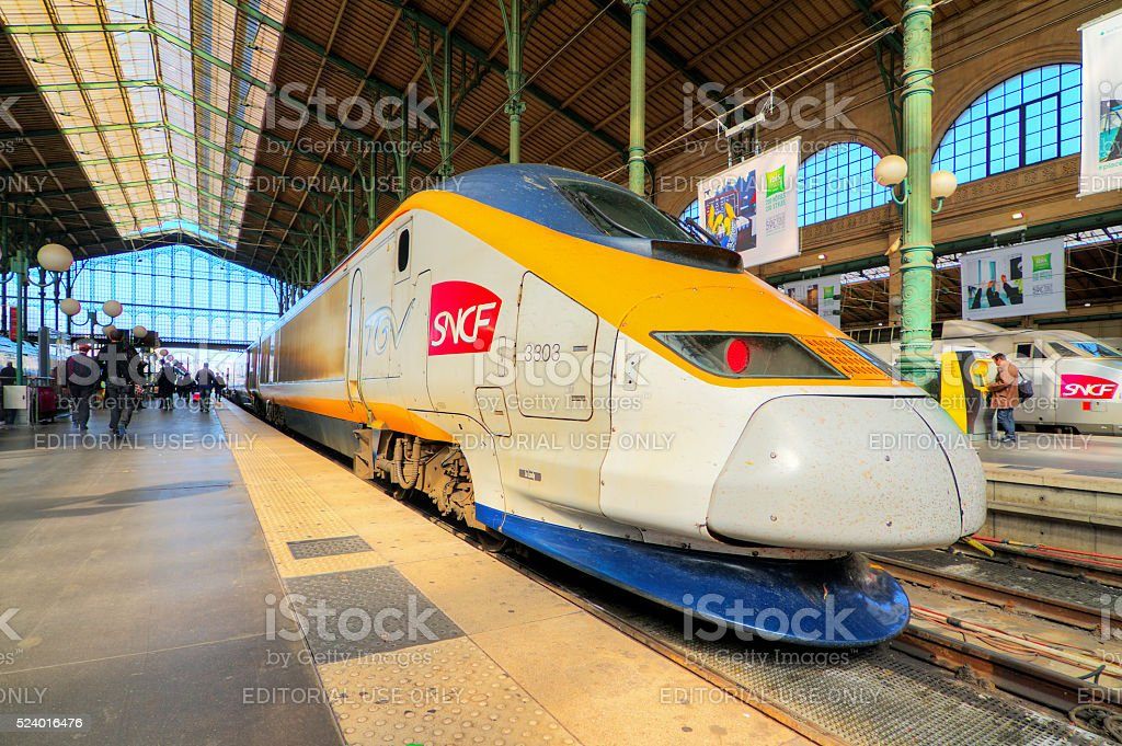 TGV Gare du Nord stock photo