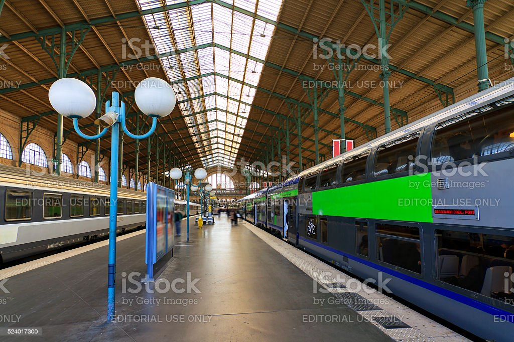 Gare du Nord platform stock photo