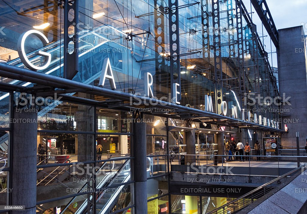 Gare Montparnasse - train station in Paris stock photo