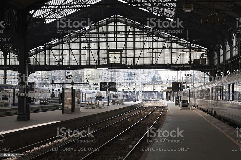 Gare St Lazare railway station in Paris, France royalty-free stock photo