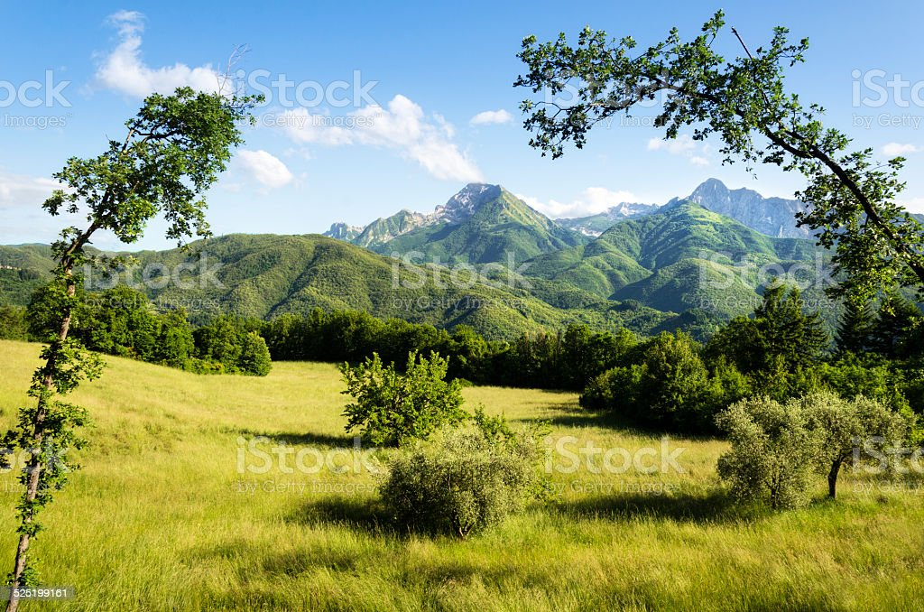 Garfagnana Region of Italy, Mountains royalty-free stock photo