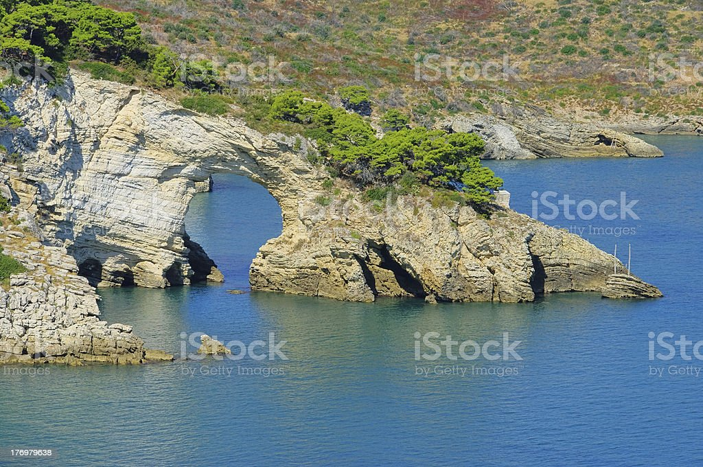 Gargano coast stock photo