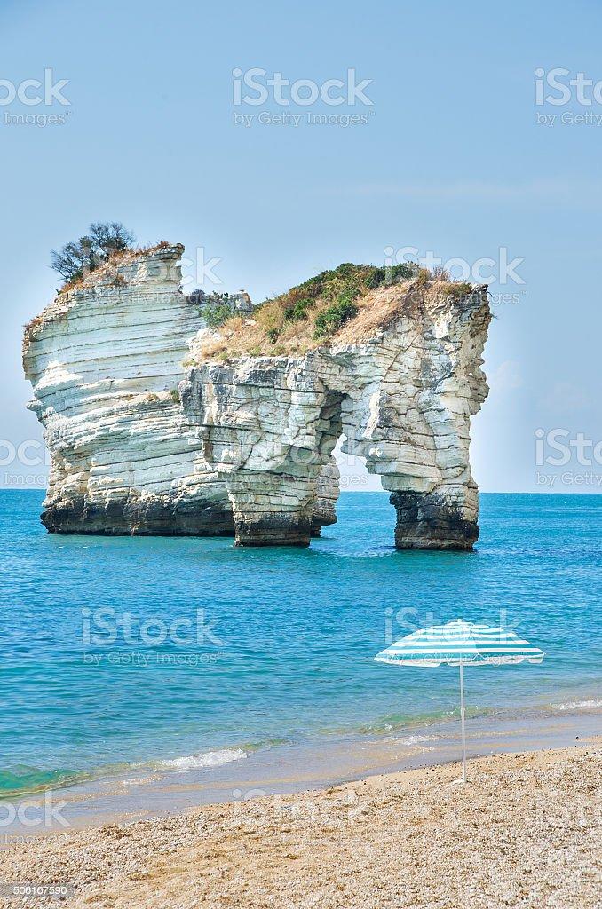 Gargano - Faraglioni di Puglia - Baia delle Zagare beach stock photo