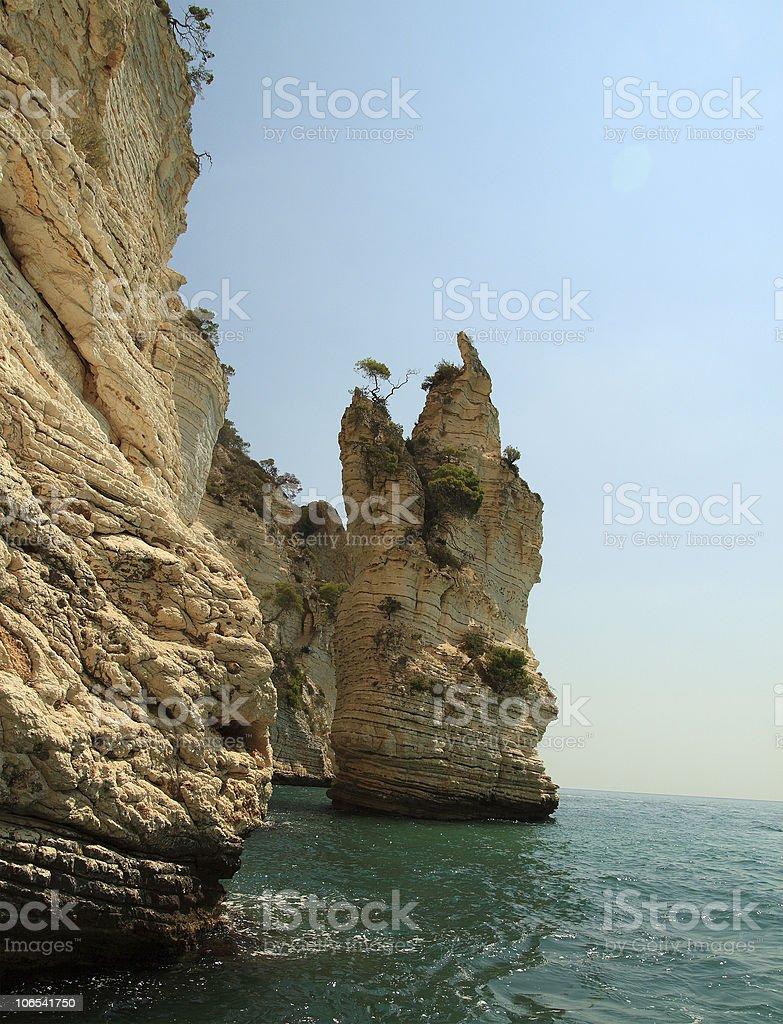 Gargano seaside stock photo