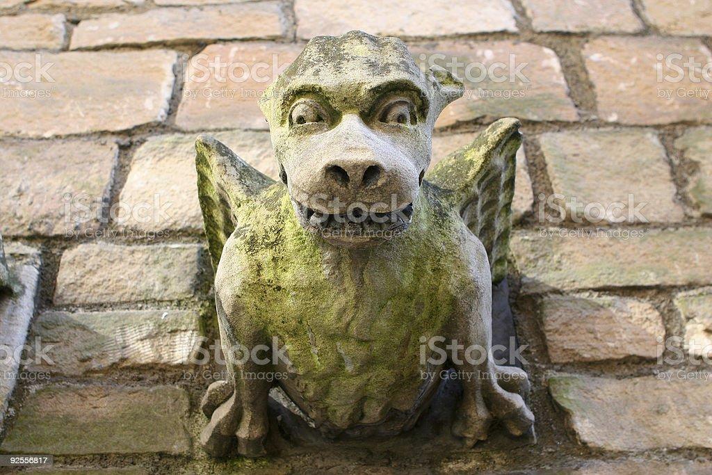 Gargling Gargoyle stock photo