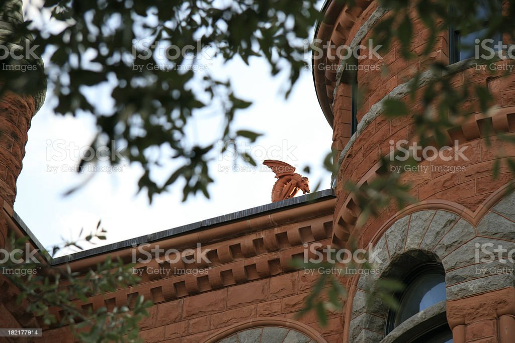 Gargoyle atop the old Dallas County Courthouse royalty-free stock photo