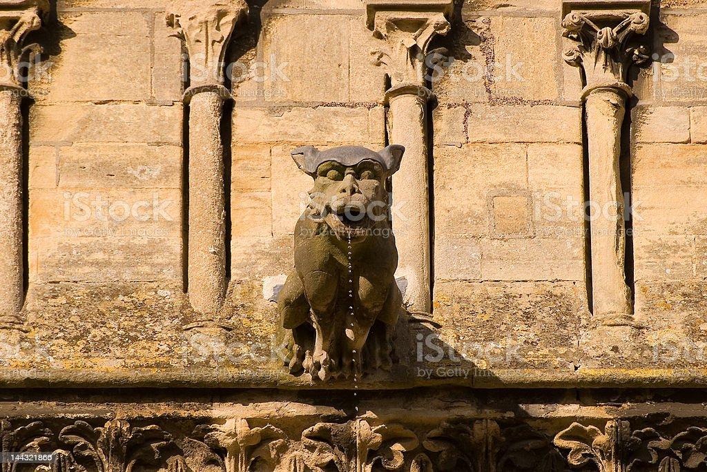 Gargoyle, Cathedral of Bayeux France stock photo