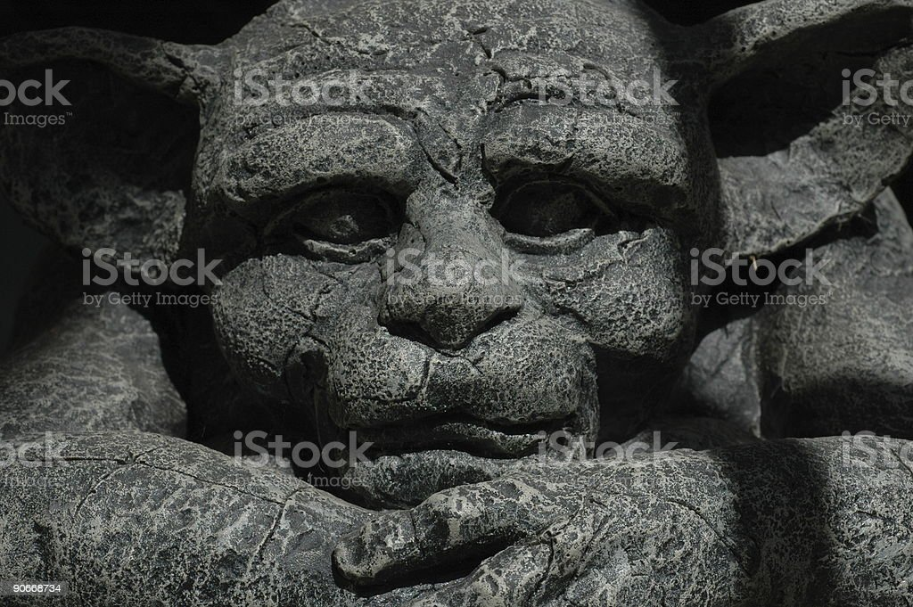 Gargoyle Closeup royalty-free stock photo