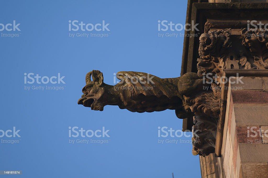 Gargoyle Devil royalty-free stock photo